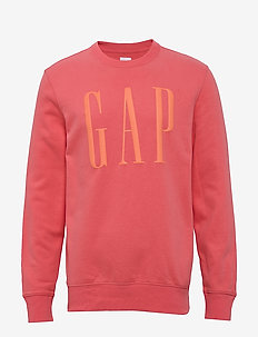 Gap Logo Carbonized Crewneck Sweatshirt - FRESH CORAL