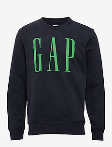 Gap Logo Carbonized Crewneck Sweatshirt - NEW CLASSIC NAVY 2