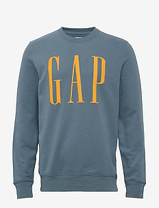 Gap Logo Carbonized Crewneck Sweatshirt - PACIFIC 817