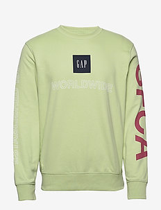 Gap Logo Worldwide Sweatshirt - sweatshirts - matcha green