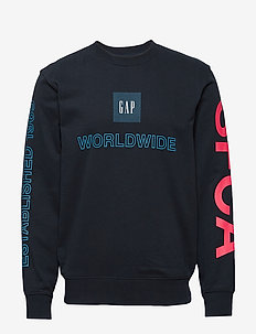 Graphic Carbonized Crewneck Sweatshirt - NEW CLASSIC NAVY 3