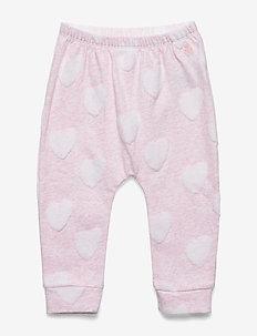 Baby Fuzzy Print Pull-On Pants - sweatpants - light pink