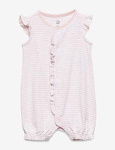 Baby Ruffle Brannan Bear Shorty One-Piece - krótki rękaw - light pink hthr 20874