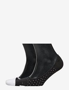 No-Show Socks (2-Pack) - ankelstrumpor - black/white