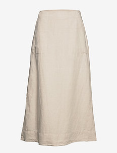 LINEN FLARE MAXI SKIRT - maxi skirts - flax linen