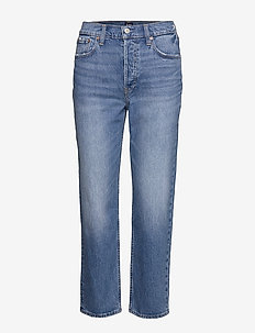 High Rise Cheeky Straight Jeans with Secret Smoothing - straight jeans - medium indigo 8