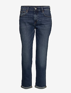Mid Rise Girlfriend Jeans - straight jeans - dark indigo v2