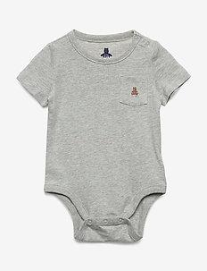 Baby Brannan Bear Bodysuit - LIGHT HEATHER GREY B08