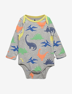 Baby Dino Bodysuit - manches longues - light heather grey b08