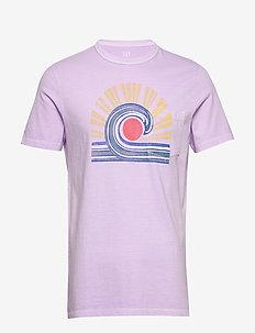 Graphic Pocket T-Shirt - printed t-shirts - lilac bloom