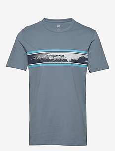 Graphic Crewneck T-Shirt - printed t-shirts - pacific 817