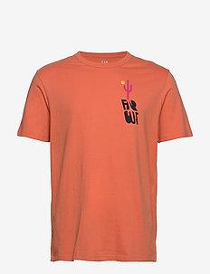 Graphic Crewneck T-shirt - logo t-shirts - miami coral