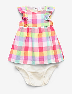 Baby Cascade Ruffle Plaid Dress - dresses - new off white
