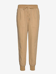 Utility Joggers in Linen-Cotton - sweatpants - new sand