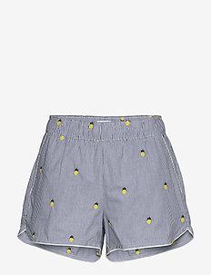 Print Shorts in Poplin - shorts - pineapplestripe ovrlay