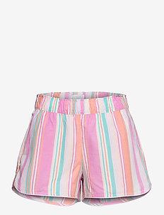 Print Shorts in Poplin - shorts - pink baja stripe