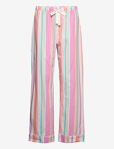 PJ Pants  in Poplin - bottoms - pink baja stripe