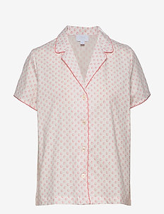 PJ Shirt in Poplin - hauts - coral shells