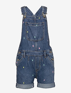 Kids Embroidered Star Shortalls - overalls - multi stars