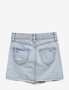 Kids Destructed Denim Skirt - röcke - light denim