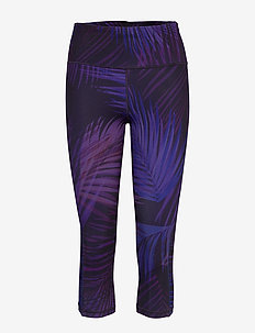 GapFit High Rise Capris in Eclipse - løbe- og træningstights - indigo palm print