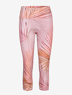 GapFit High Rise Capris in Eclipse - løbe- og træningstights - palm print