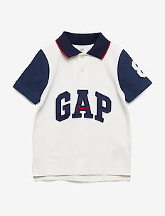 Kids Gap Logo Pique Polo Shirt - polos - new off white
