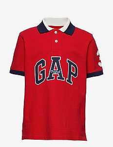 Kids Gap Logo Pique Polo Shirt - polos - pure red v2