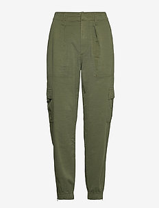 Cargo Utility Joggers in TENCEL™ Lyocell - casual trousers - olive