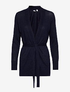 Wrap-Front Cardigan - gilets - navy uniform v2