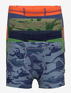 Kids Dinosaur and Stripes Boxer Briefs (4-Pack) - underdele - multi