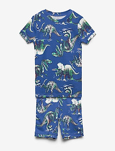Kids Dinosaur Short PJ Set - sets - admiral blue