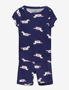 Kids Unicorn Floaty Short PJ Set - sets - drizzle blue