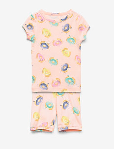 Kids Donut Short PJ Set - sets - pink blush