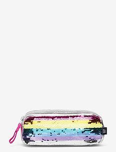 Kids Rainbow Flippy Sequin Pencil Case - piórniki - silver metallic