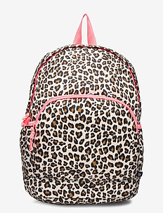 Kids Leopard Print Senior Backpack - reput - leopard print