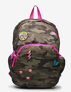 Kids Camo Patch Senior Backpack - sacs a dos - green camo