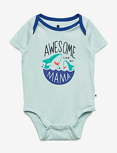 Baby Mix and Match Family Bodysuit - kortærmede - azul