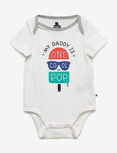 Baby Mix and Match Family Bodysuit - kortærmede - new off white opt2