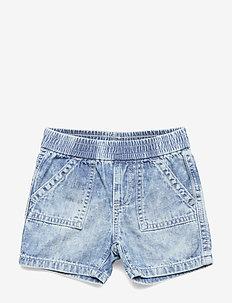 Baby Denim Cargo Shorts - shorts - light wash indigo 118