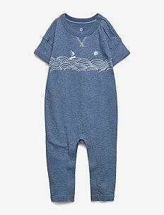 Baby Graphic One-Piece - krótki rękaw - indigo heather b8985