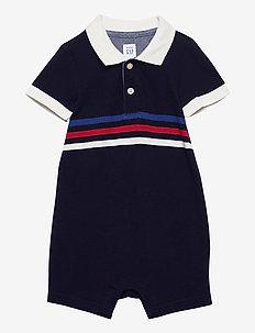 Baby Polo Shorty One-Piece - krótki rękaw - navy uniform