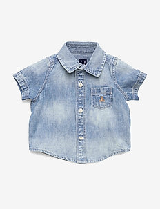 Baby Denim Short Sleeve Shirt - hemden - light wash indigo 118