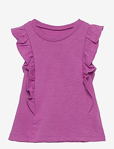 Toddler Flutter Tank Top - sleeveless tops - budding lilac