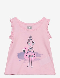 Toddler Ruffle Graphic Tank Top - sleeveless tops - girls girls girls