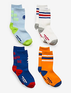 Toddler Crew Socks (4-Pack) - non-slip socks - multi