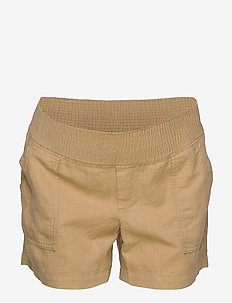 Maternity Shorts in Linen-Cotton - chino shorts - new sand