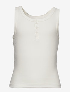 Teen Ribbed Henley Tank Top - Ærmeløse - new off white
