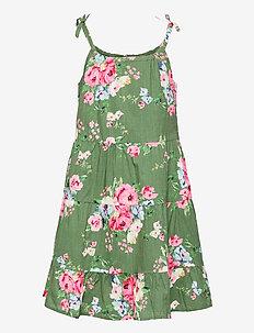 Girls Tiered Floral Dress - sukienki - twig
