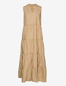 Sleeveless Tiered Maxi Dress - maxi dresses - new sand